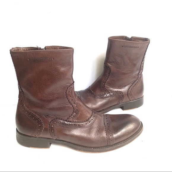 BRONX CHOCOLATE BROWN LEATHER BOOTS PORTUGAL